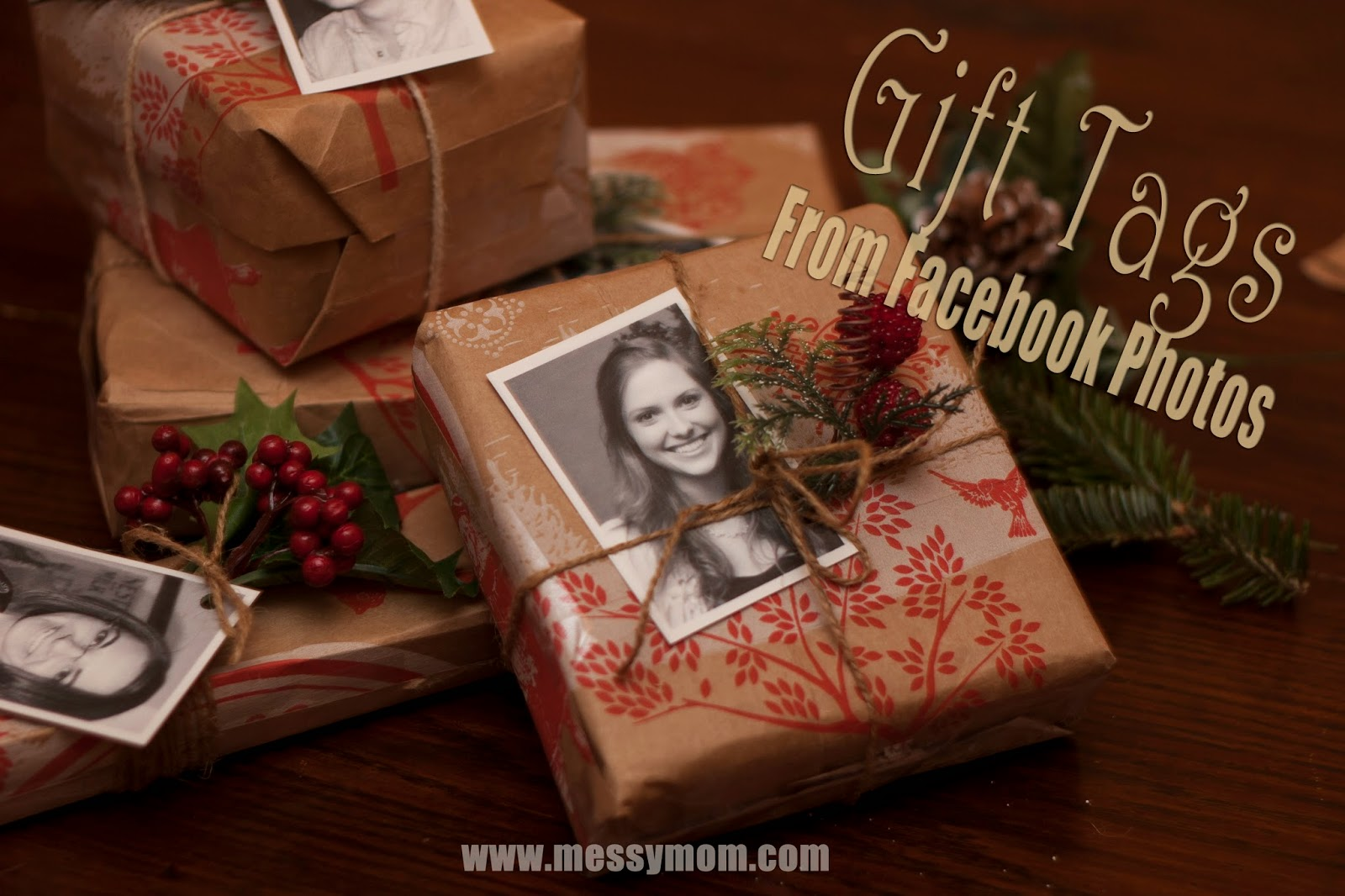 Personalized Gift Tags Using FaceBook Photos