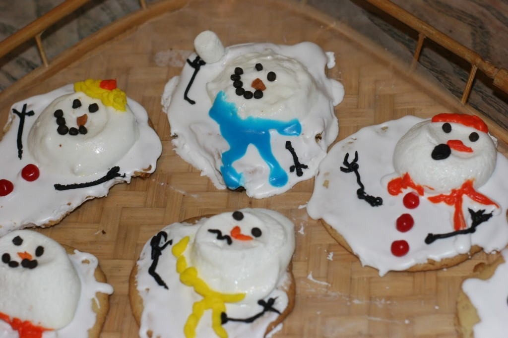 Melted Snowman Cookies Messymom