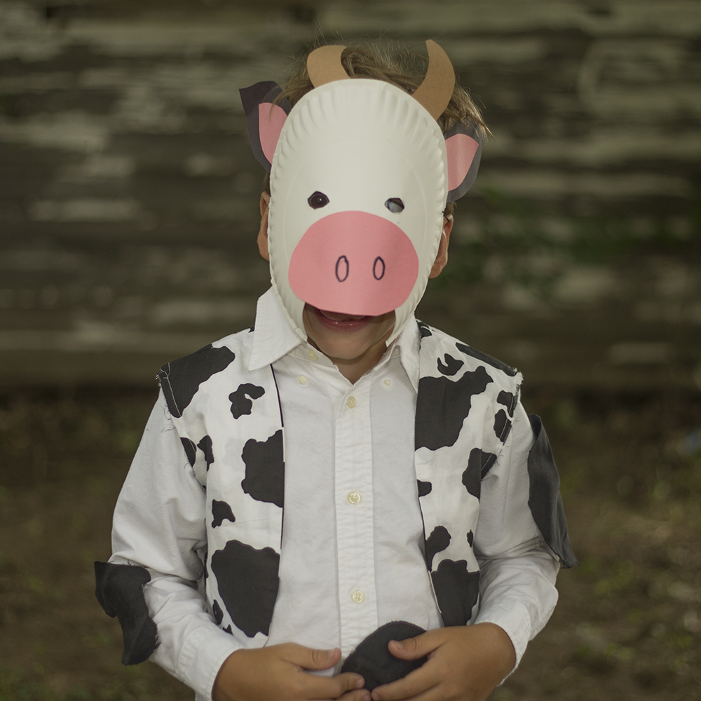 mask & Paper Plate Cow Masks - Messymom