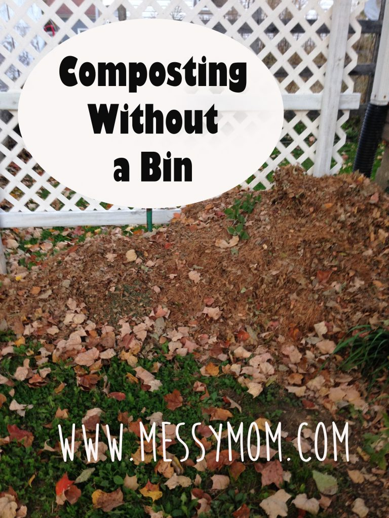 composting without a bin messymom